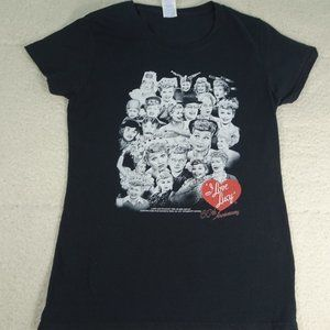 I Love Lucy 60th Anniversary Black Gildan Tee Sm